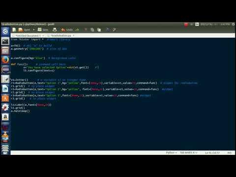 Python GUI with Tkinter radio button widget | #4