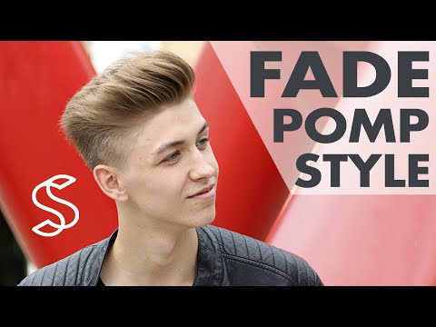 How to create Fade pompadour style and Messy Quiff haircut