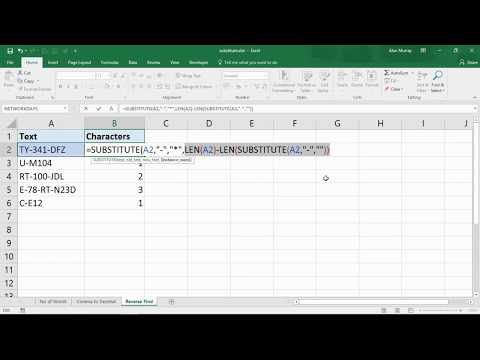 3 Advanced Examples of the SUBSTITUTE Function in Excel