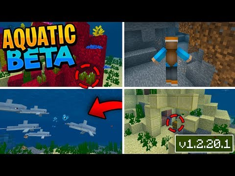 MCPE 1.4 BETA!! - Dolphins, Underwater Ruins NEW Items & MUCH MORE!! - (Aquatic Beta PE Xbox Win10)