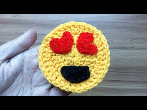😍 Love Emojis ♥ Fall in love ♥ Valentine Emojis Crochet ♥ Smiling Face With Heart-Eyes