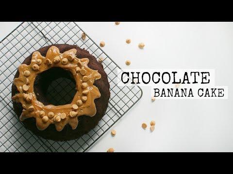 Amazing Chocolate Banana & Peanut Butter Cake Recipe | Baking w/ Dan