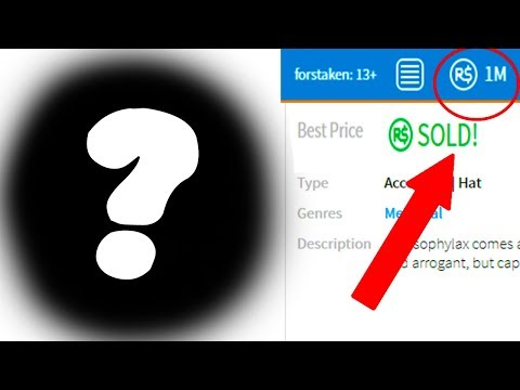 SELLING MY RAREST ITEM FOR 1 MILLION ROBUX! (Roblox)