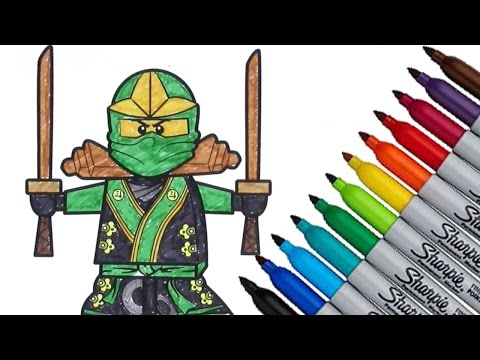 Lego Ninjago Coloring page 2016 New HD Video for Kids