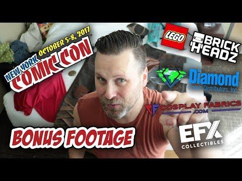 NYCC 2017 Bonus Footage - EFX Collectibles, Cosplay Fabrics, Lego Brick Headz and More!