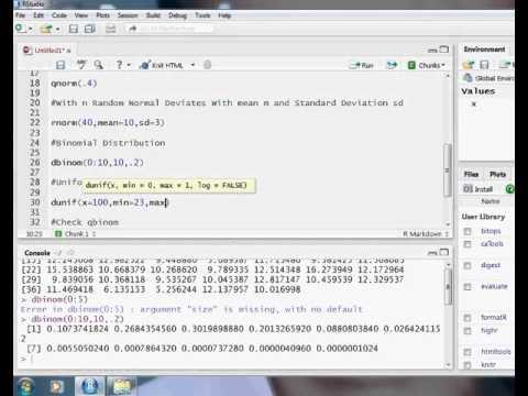 R Programming Tutorials Lesson 9 Distribution   Normal distribution , Cumulative Normal Probability,