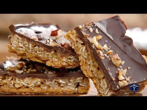 Oat 'n' Toffee Grahams Squares Recipe - Le Gourmet TV