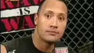 The Rock imitates Kurt Angle, Undertaker, Rikishi, Triple H and Stone cold