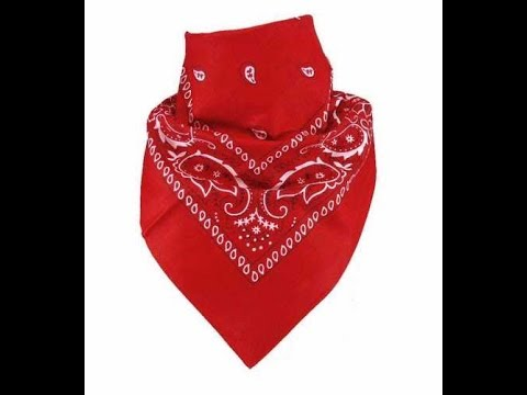 How to tie a bandana around mouth