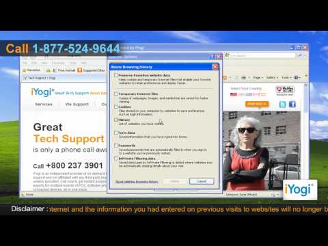 How to delete history in Internet Explorer® 8 on Windows® XP