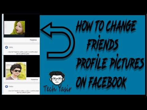 how to change your facebook friends profile picture