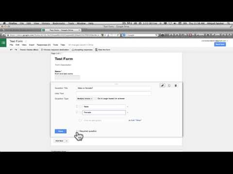 Create a form that feeds into a spreadsheet on Google