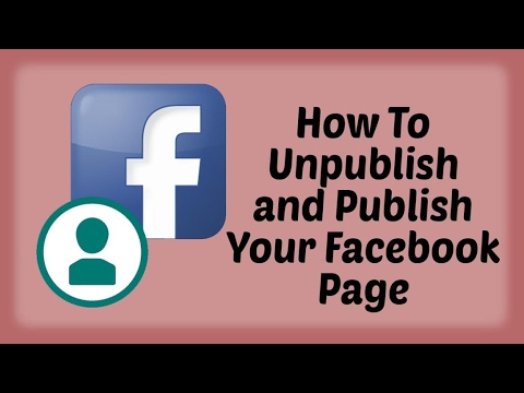 How To Unpublish and Publish Your Facebook Page - Hindi Video | Facebook Tutorials in Hindi