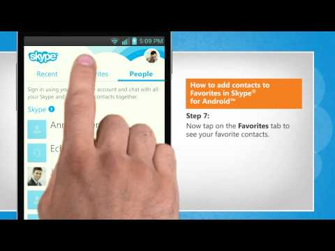 How to add contacts to Favorites in Skype® for Android™ in LG L9