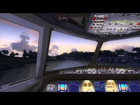 Cockpit A318 Take Off St. Barts