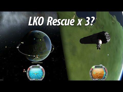 LKO Rescue Mission (Beginner Tutorial: Part 6) - Kerbal Space Program (KSP) 1.1 Stock Career