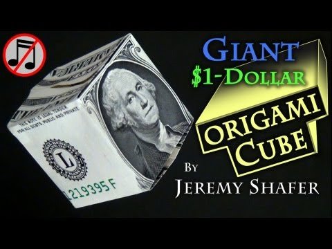 Giant $1 Origami Cube (no music)