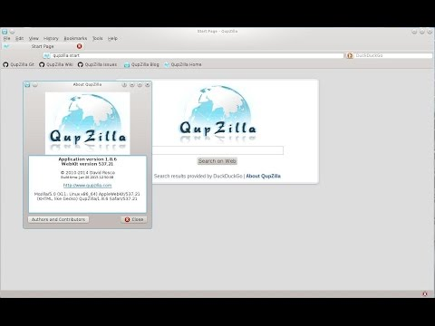 QupZilla on Linux [Native] light and crossplatform web browser - quick preview