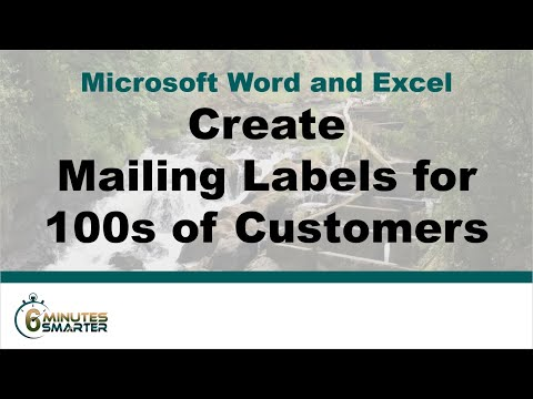 Use Mail Merge to Generate Mailing Labels for 100s of Customers