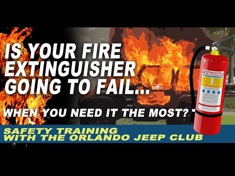 What happens when your Jeep fire extinguisher fails?