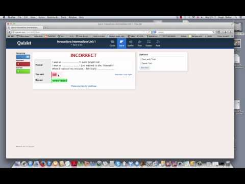 How to use vocabulary revision cards on Quizlet