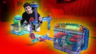 BUILDING MY HAMSTER HIS DREAM CAGE!! (INSANE)