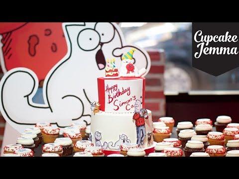 Behind The Scenes Making Simon's Cat's Birthday Cake | Cupcake Jemma