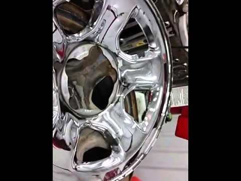 How to remove chrome skins from your wheels / rims.