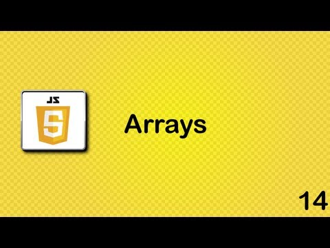 Javascript beginner tutorial 14 - more arrays