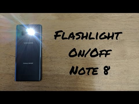 How to turn flashlight On/Off Galaxy Note 8