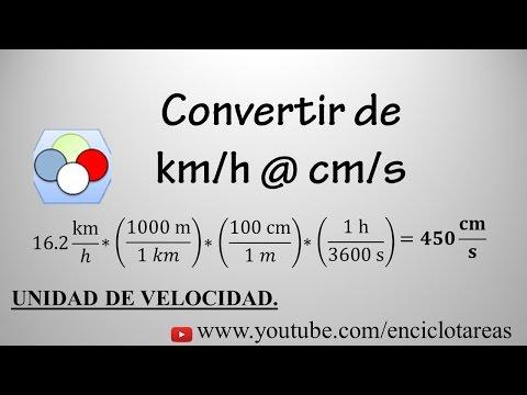 Convertir de km/h a cm/s