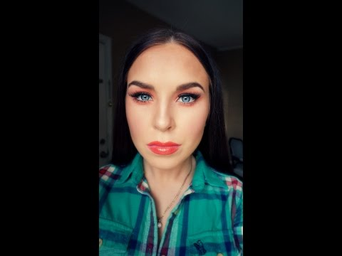 How I contour my oval face shape/ quick and easy orange makeup look