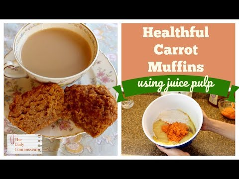 Healthful Carrot Muffins Using Juice Pulp
