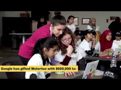 Google gifts Waterloo $600,000 for STEM initiatives