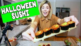 I TRIED TO MAKE SPOOPY SUSHI // Grace Helbig