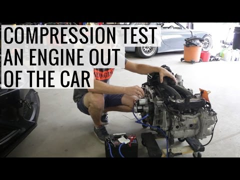 How to compression test an engine out of the car - Just the Tip