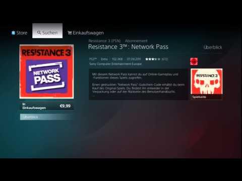 Online Pass / Network Pass im PS Store kaufen
