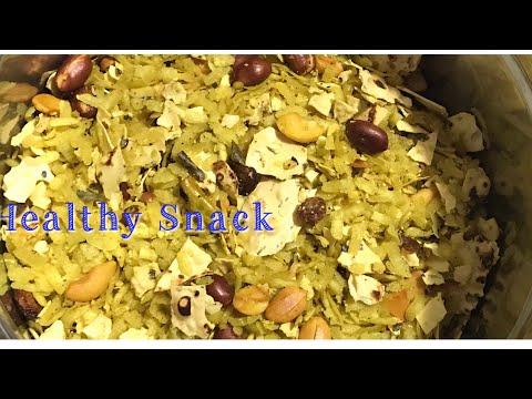 Papad Poha Recipe/ Healthy Snack Recipe/