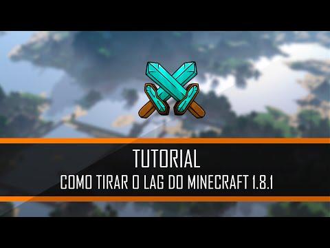 COMO TIRAR O LAG DO MINECRAFT 1.8.1, 1.8.2 e 1.8.3