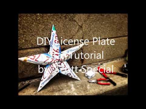 DIY License Plate Star