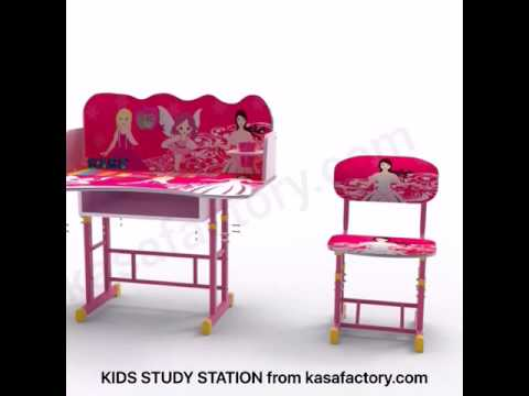 Adjustable Height Kids Desk / Chair Study Station
