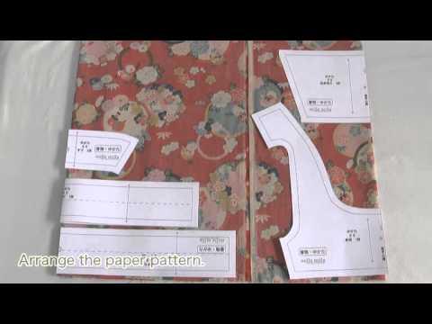 Japanese Kimono dog wear sawing Movie 02 [hand made dog wear]