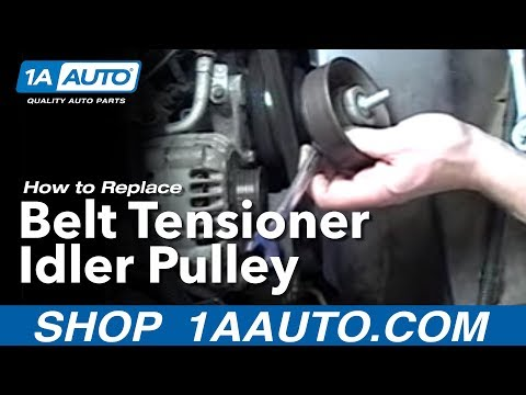 How To Install Replace Belt Tensioner Idler Pulley Chevy GMC Silverado Sierra Suburban 1AAuto.com