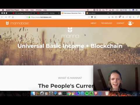 Universal Basic Income + Blockchain! Earn Free Money With Mannabase!