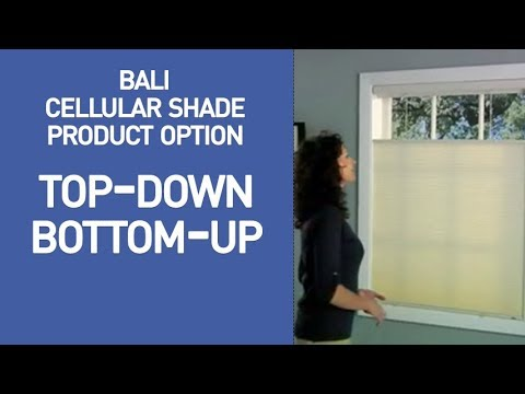 Bali Top Down Bottom Up Cellular Shades Demo