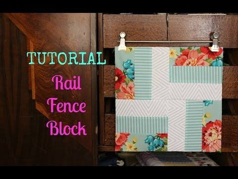 TUTORIAL: Rail Fence Block | 3and3quarters