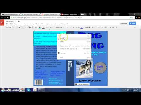 How to Make a Digital Book Jacket in Google Drawing
