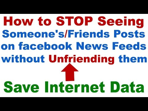 How to STOP Seeing Someone's/Friend's/Page's Posts on Facebook News Feed without Unfriending them