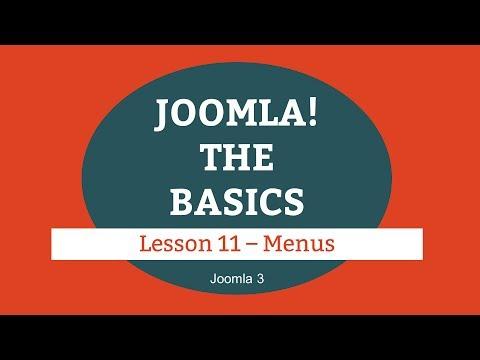 Joomla 3 Tutorial - Lesson 11 - Menus