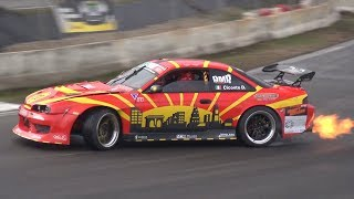 OnBoard Ride in a RB25 Nissan 200SX S14 Drifting on Track! - Lovely Turbo Flutter Sound!